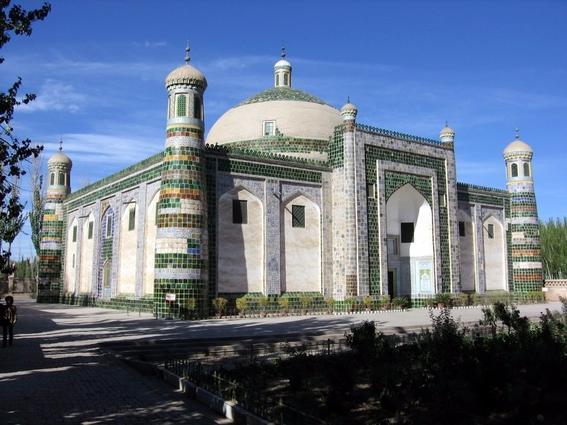 la ruta de la seda edificio kashgar