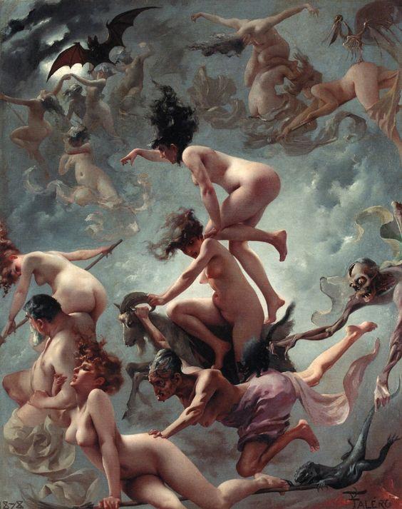 libros sobre brujas pintura