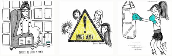 paloma iglesias ilustraciones mujeres felices
