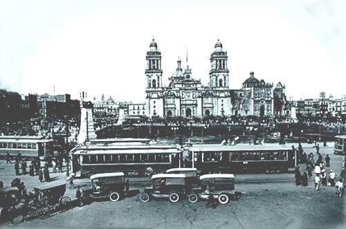 posrevolucion mexicana tranvia