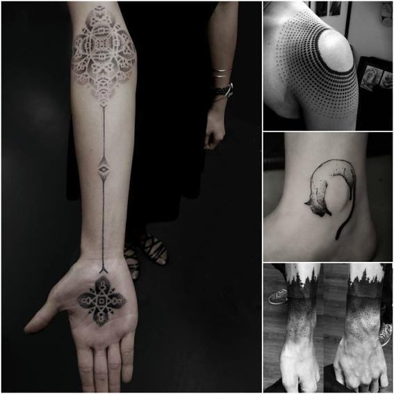 puntillismo tendencias de tatuajes