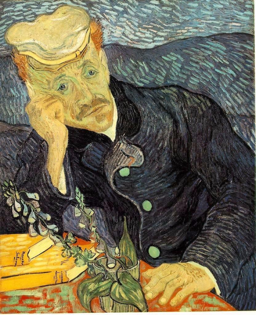 Pinturas de Van Gogh retrato-del-doctor-gachet