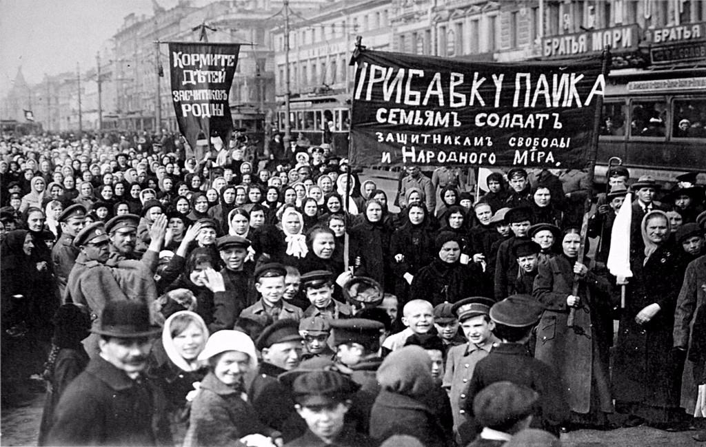 revolucion rusa manifestantes