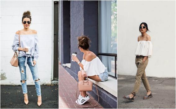 ropa de moda de mujer hombros