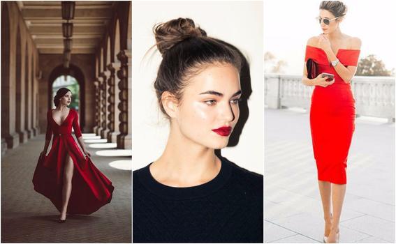 ropa de moda de mujer rojo