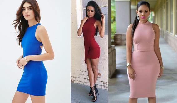 ropa de moda de mujer vestidos piel