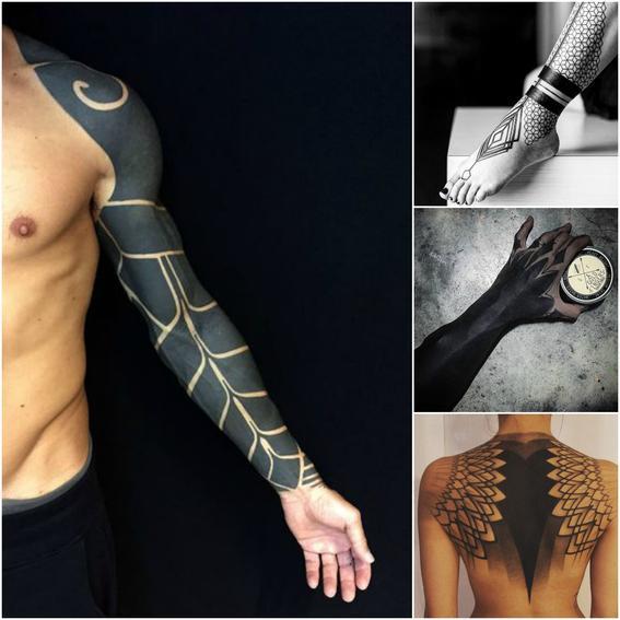 tendencias de tatuaje black out