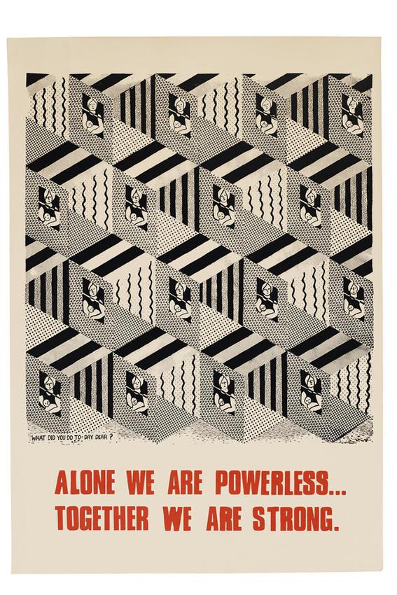 Alone We Are Powerless carteles feministas