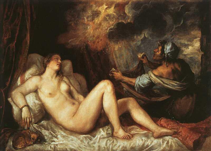 Pintura erótica danae_recibiendo_la_lluvia_de_oro