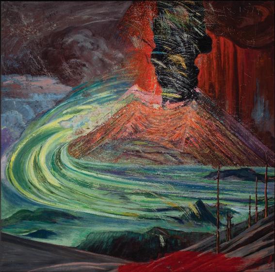 erupcion del paricutin atl arte nacional