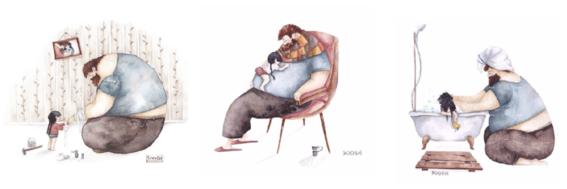 figura paterna ilustraciones soosh