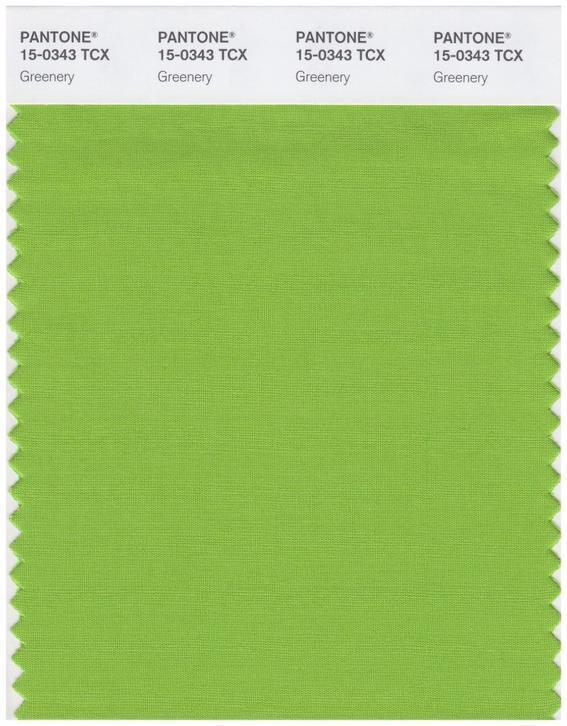 Colores de moda 2017  greenery