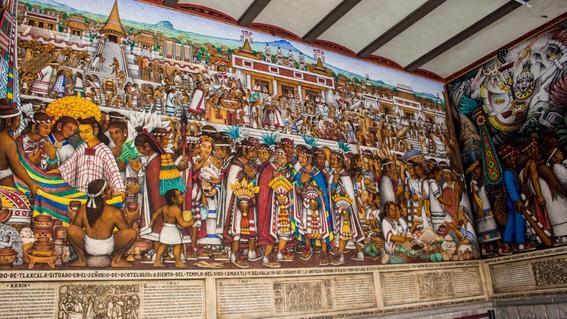 nacimiento de mexico mural