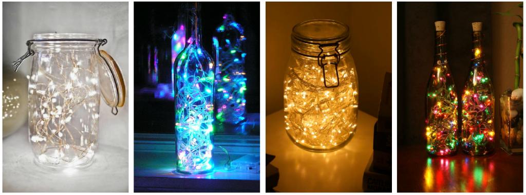 8 formas de transformar tu habitaci n con una serie de - Botellas con luces ...