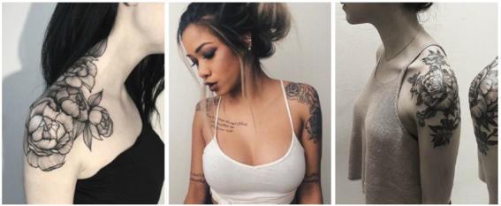 tatuajes en el hombro mujeres