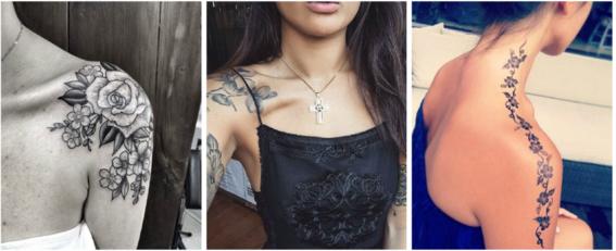 tatuajes en el hombro sensuales
