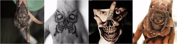 tatuajes en el dorso de las manos