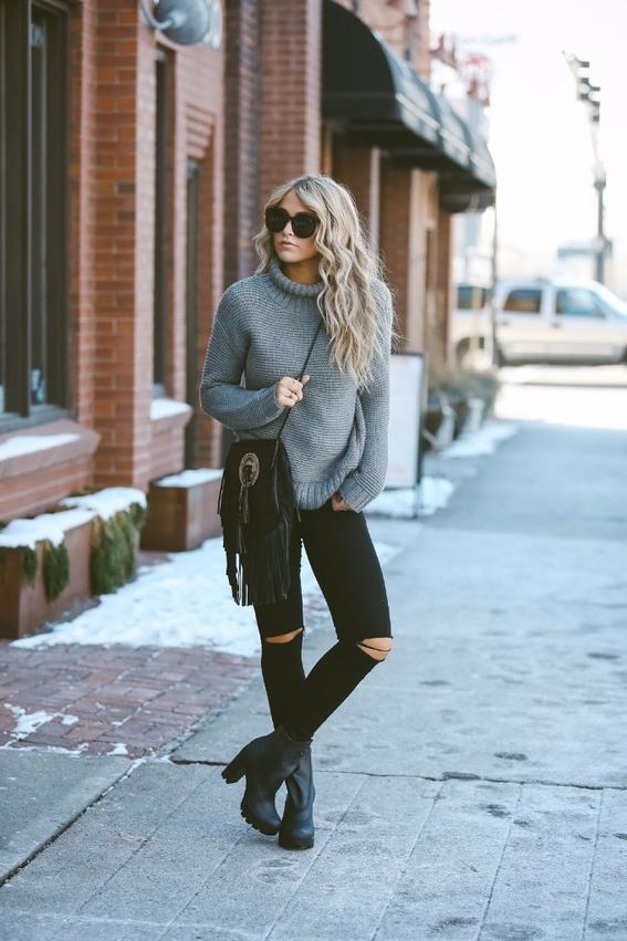 tipos de jeans negros