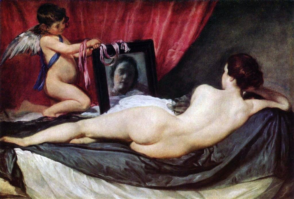Pintura erótica venus-en-el-espejo