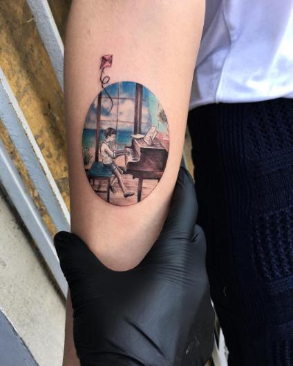 tatuajes inspirados en el cine piano