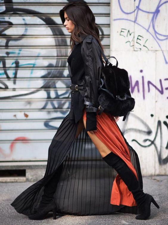 Basquiat naranja y negro