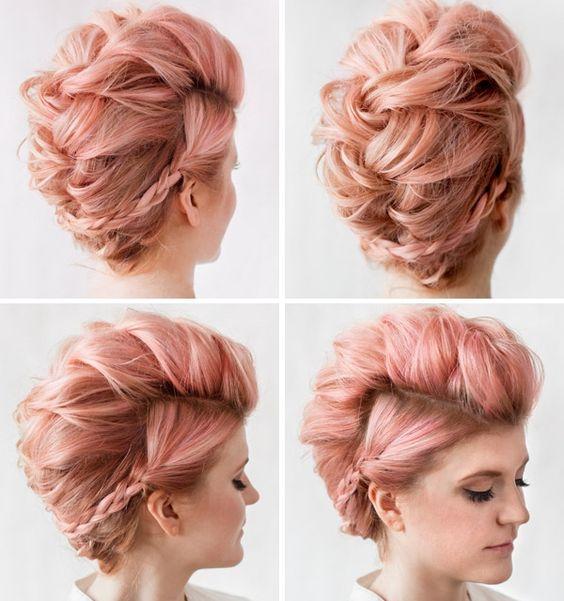 aunque tu cabello sea muy corto lo nico que necesitas son unas cuntas ligas de plstico te harn lucir casual durante el da y muy sofisticada por
