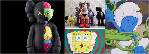 KAWS art toys populares
