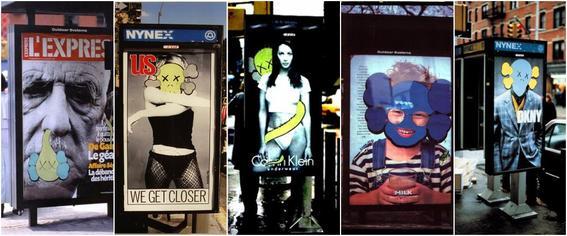 KAWS publicidad street