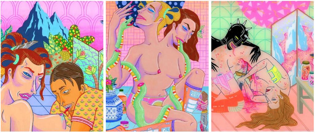 Sangre, placer y dolor en 24 salvajes y eróticas ilustraciones