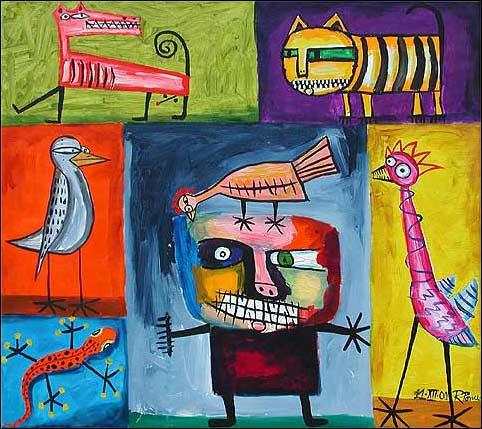 Ricardo-Ponce-Miscellaneous-Animals arte bruto