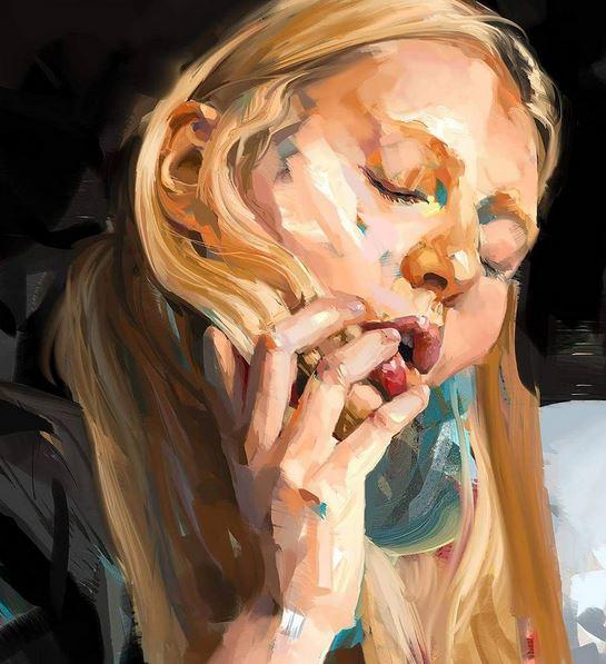 Senior Coconut pinturas de erotismo y pasión