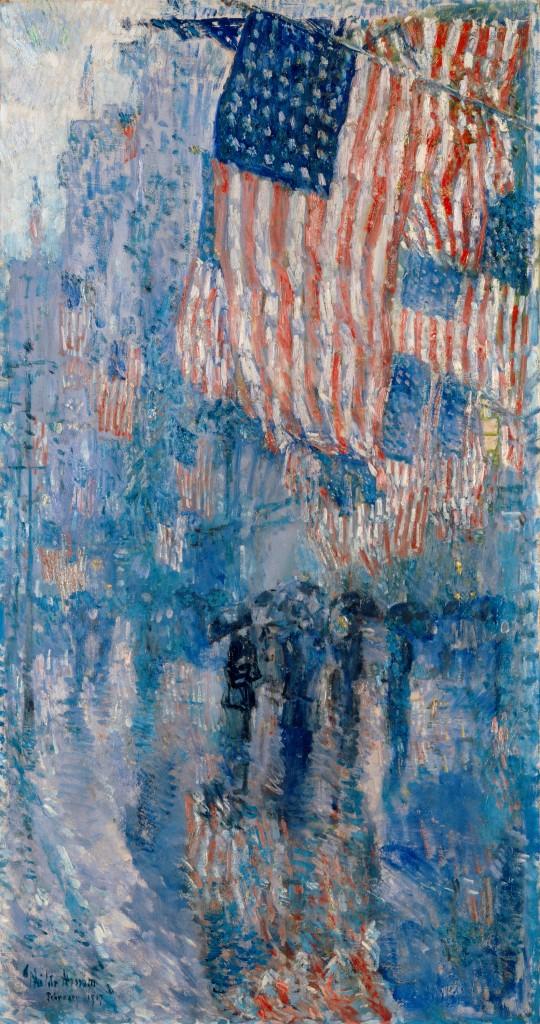 The-Avenue-in-the-Rain-Frederick-Childe-Hassam