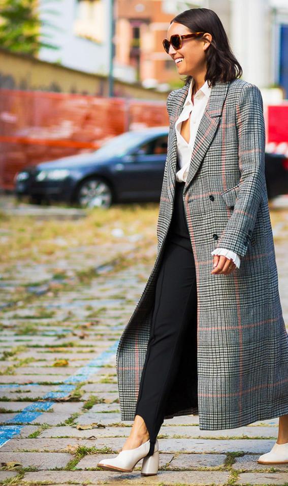 abrigo gris ropa con estilo para mujeres