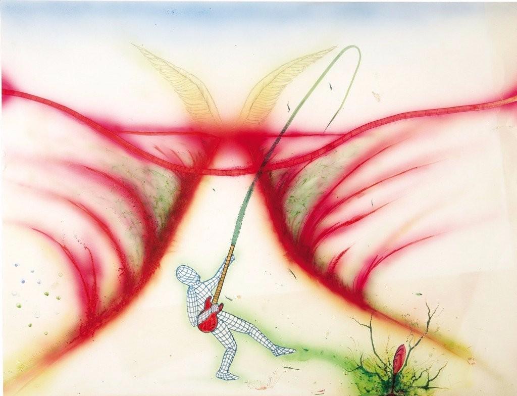 abstract visual art kurt cobain