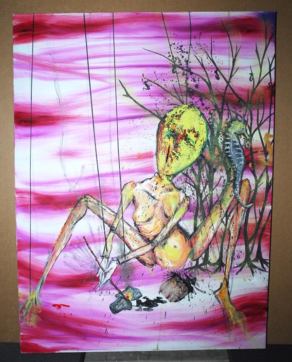 arte kurt Cobain caballo