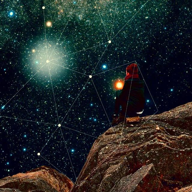 poema collage galaxia universo