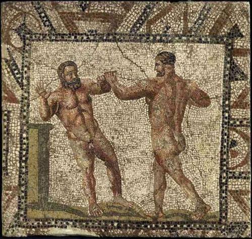 costumbres romanas palaistra