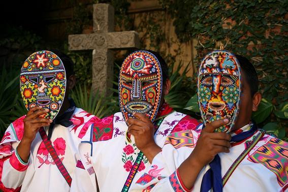 cultura huichol mascaras