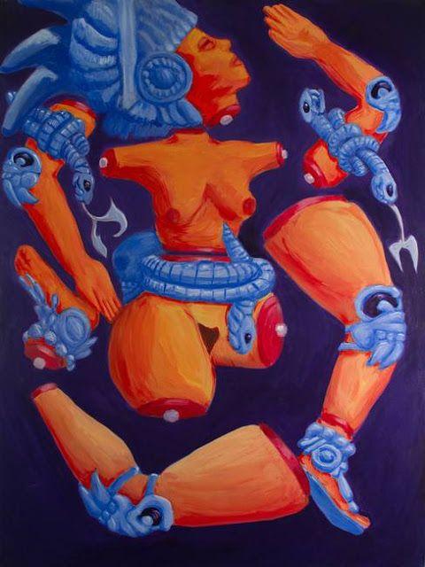 diosa de la luna pintura