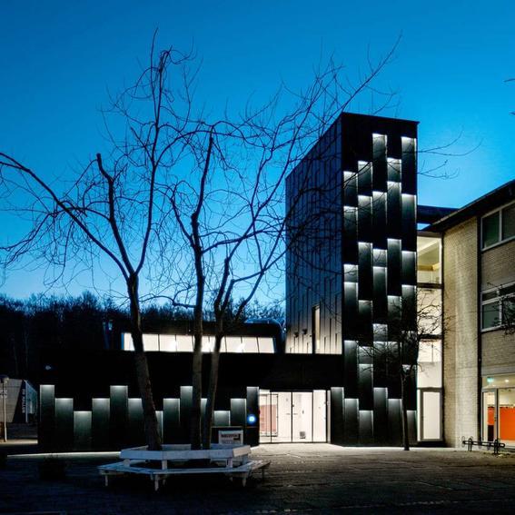 edificio futuro de la arquitectura
