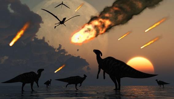 el cometa halley dinosaurios