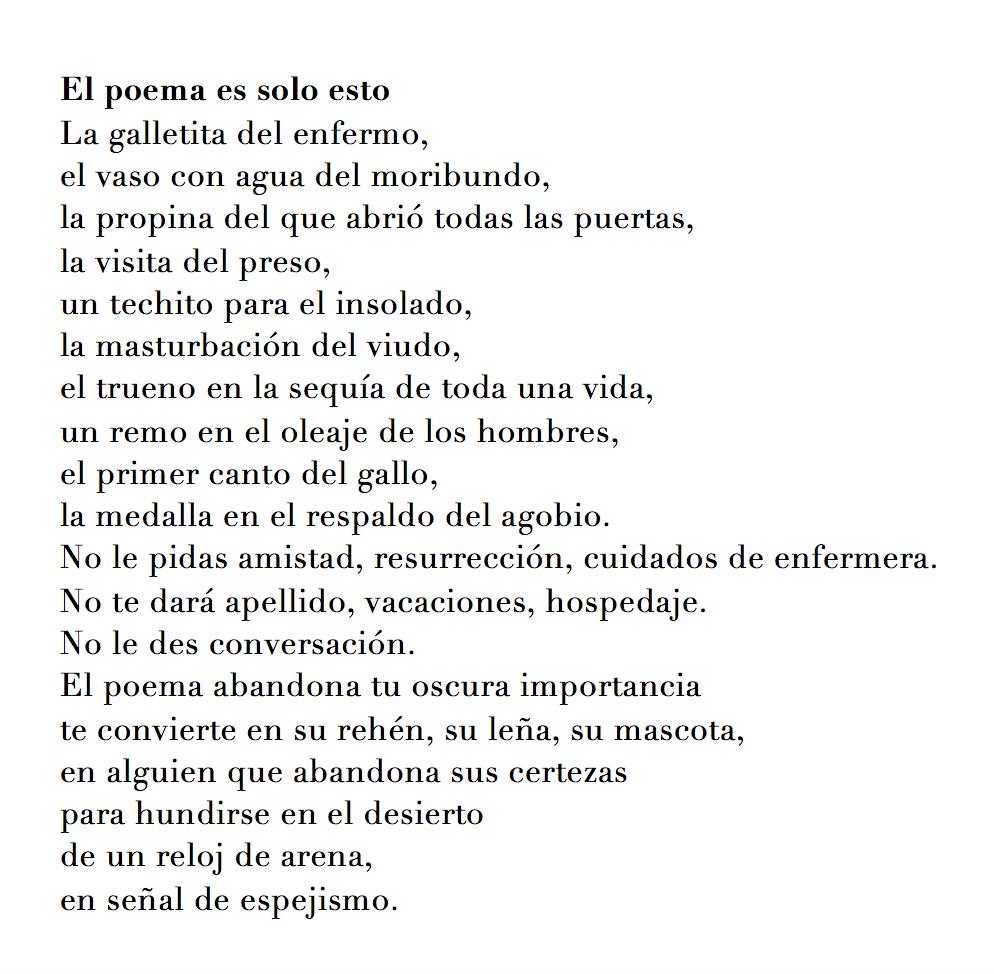 el poema es solo esto
