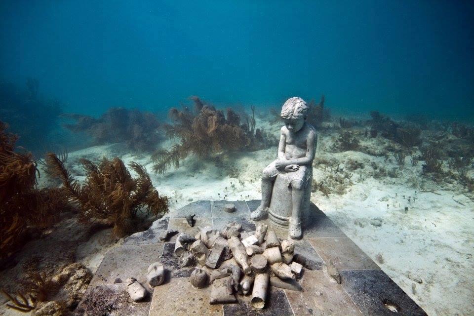 esculturas museo cancun