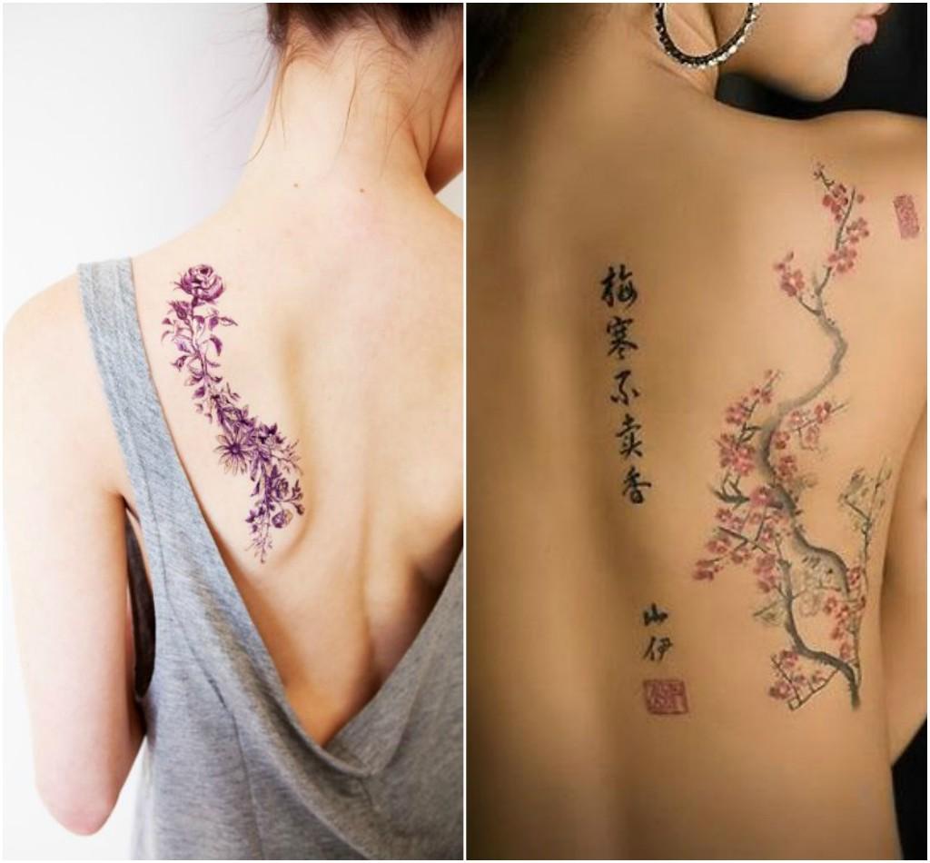 Tatuajes en la espalda que las mujeres amar n dise o - Tatuajes de pared ...