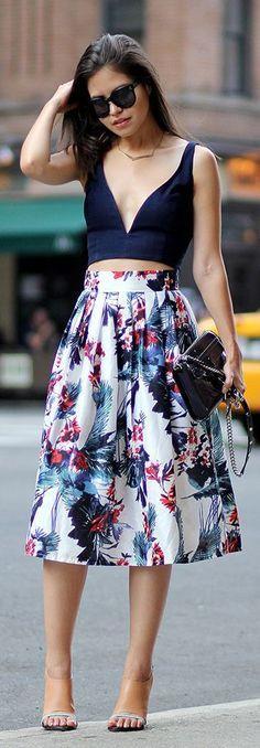floral ropa con estilo para mujeres