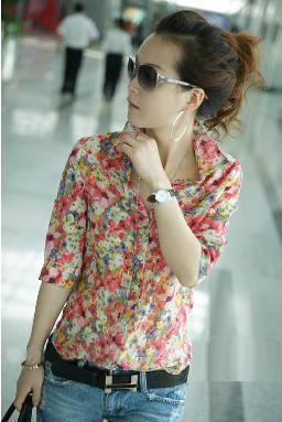 flores ropa con estilo para mujeres