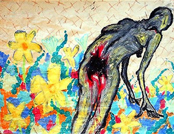flowers visual art kurt cobain
