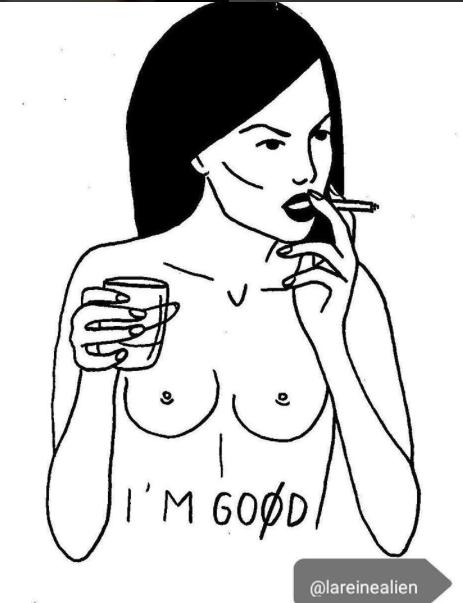 illustrations tattoos sick of life