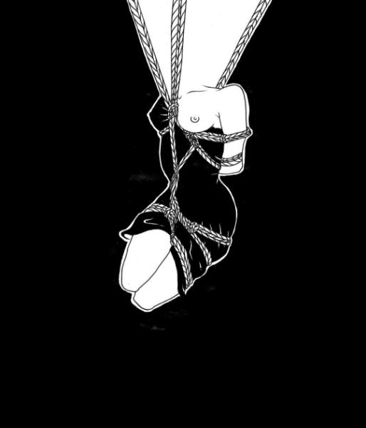 ilustraciones de fantasias eroticas blanco y negro