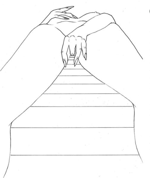 ilustraciones de fantasias camino